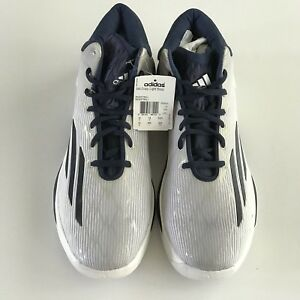 promo code 3e3dd f240b Image is loading Adidas-Crazy-Light-Boos-Basketball-Shoes-White-Blue-