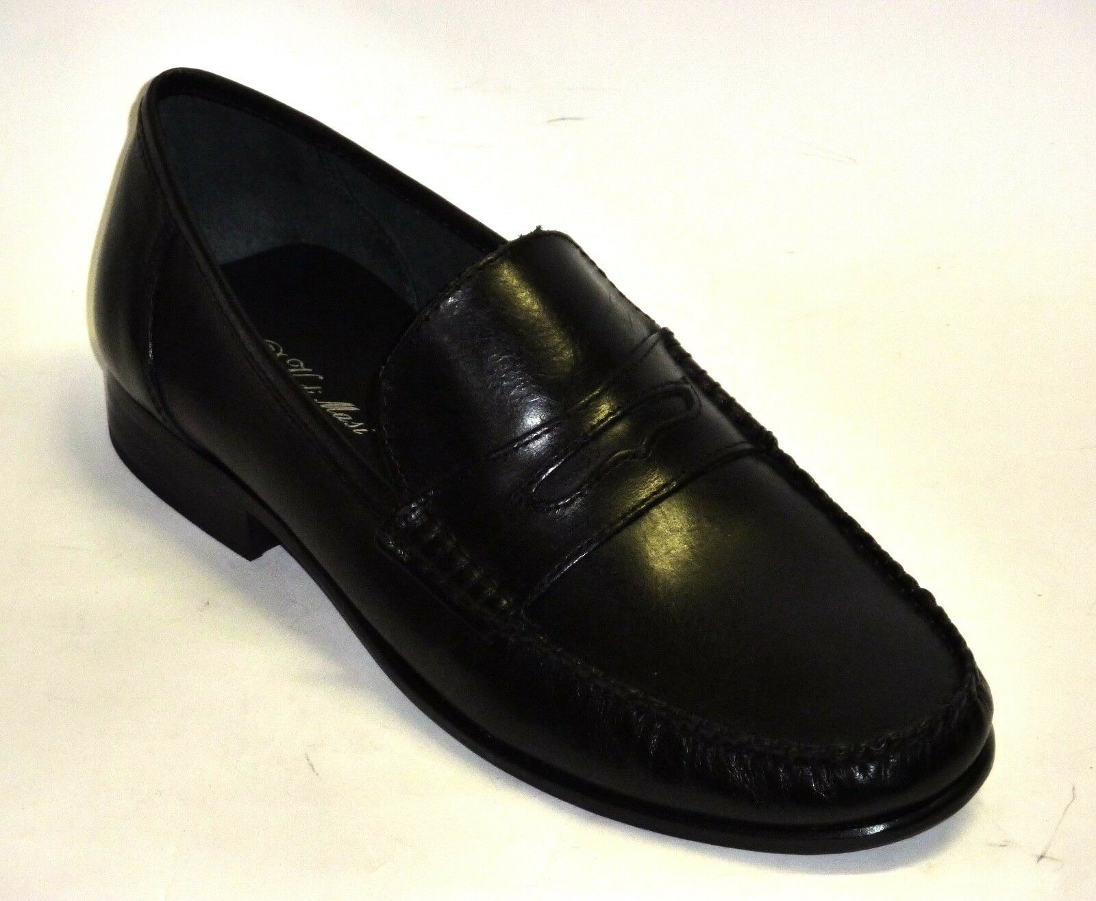 Mokassin Schuhe elegante Männerschuhe schwarzes Leder n.45
