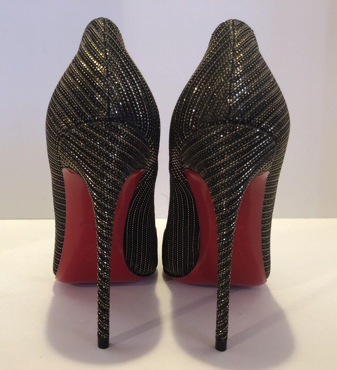 Christian Louboutin Women's So 36 Kate Metallic Canvas Pumps Size 36 So 1/2 2867d2