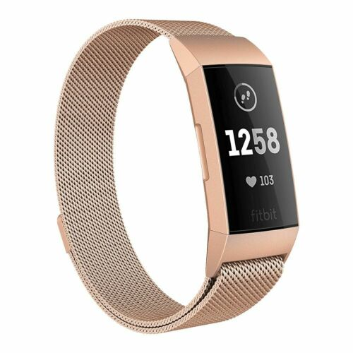 für Fitbit Charge 3 Armband Edelstahl Ersatz Band Replacement Strap Milanese new