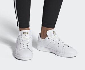 Details zu adidas Stan Smith CG6014 Weiß Frauen Sneakers Damenschuhe  Echtleder Schuh NEU