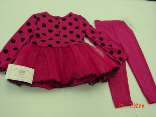 NWT Infant Toddler Girls 2 piece Set Dress Legging Pink Glitter Holiday Party