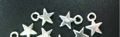 300 Pcs Tibetan Silver tiny STAR drops 11x8mm FC790