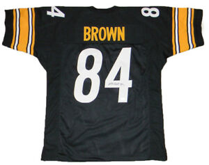 new style 12602 8e345 Details about ANTONIO BROWN SIGNED AUTOGRAPHED PITTSBURGH STEELERS #84  BLACK JERSEY JSA