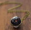 Solar-System-Pendants-Necklace-Galaxy-Planet-Necklace-S-Double-Sided-Glass-Dome thumbnail 22