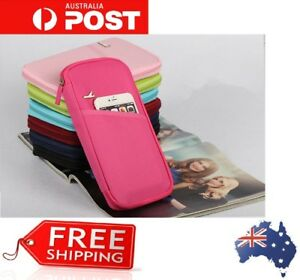 Family-Passport-Holder-Coin-Cash-Credit-Card-Ticket-Protector-Cover-Case-Zip-Bag