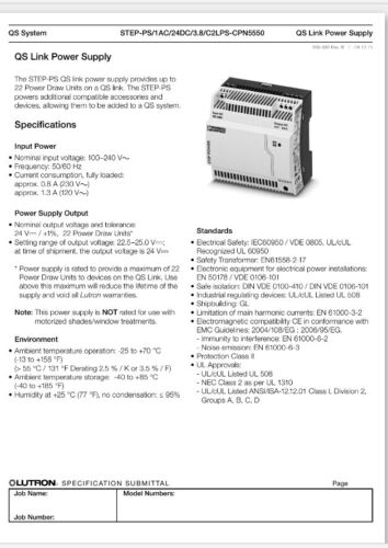 Phoenix Contact lutron step-ps24dc//3.8-cpn5550