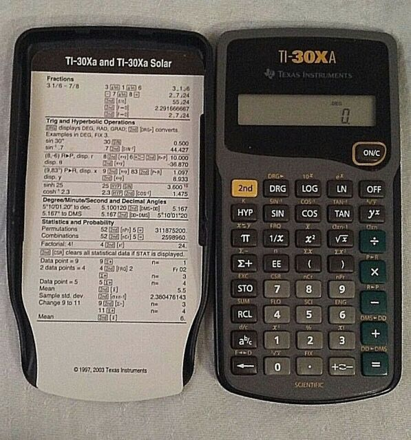 Office Equipment Office Texas Instruments Ti-30xa Scientific Calculator Solar Powered