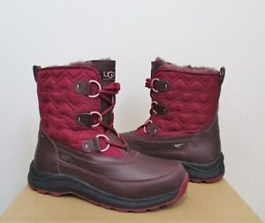1ffa8e820bf Details about UGG Women's LACHLAN Winter Waterproof Boots CORDOVAN 7US NWB  $240 MSRP