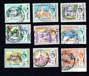 Bermuda 1962-68 parte Set utilizzato con timbri (656)
