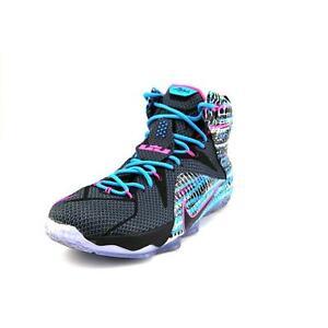 c444e32162c Nike Lebron 12 XII 23 Chromosomes Basketball Shoes Black Pink Blue ...