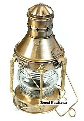 Vintage Anchor Oil Lamp Maritime Ship Lantern Boat Light ANCHOR Lamps Rail Road