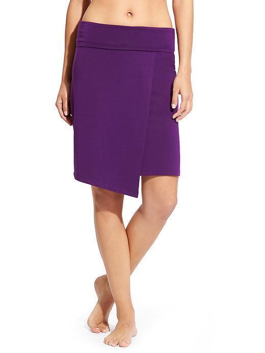 ATHLETA Seaside Foldover Skirt, NWOT, Sz Large, Purple