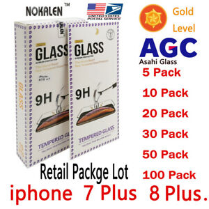 50X-Lot-Wholesale-Retail-Tempered-Glass-Protector-for-Apple-iPhone-6-7-8-PLUS