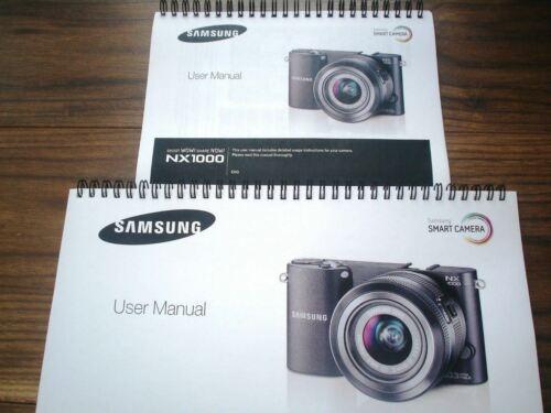 ~ ~ Impreso Guía del usuario de color Samsung NX1000 manual de instrucciones