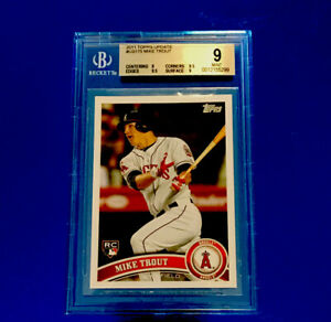 2011 Topps Update Set (330) Mike Trout RC #175 Becket 9 Mint-Corners & Edges 9.5