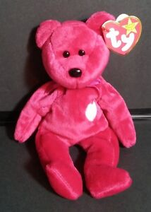 Rare TY Beanie Baby Valentina Red Bear White Heart Collectors Qualiy ... cfe2778ebc