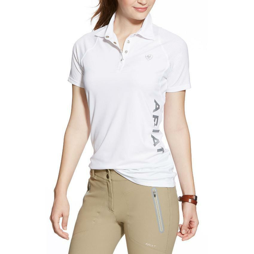Ariat Team  Cambria Polo in White NEW  new listing