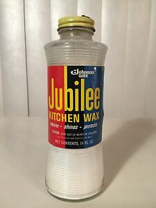 vintage 70s jubilee kitchen wax glass bottle johnson - Jubilee Kitchen Wax