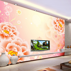 3D Beautiful Revery Flowers Paper Wall Print Wall Decal Wall Deco Indoor Murals