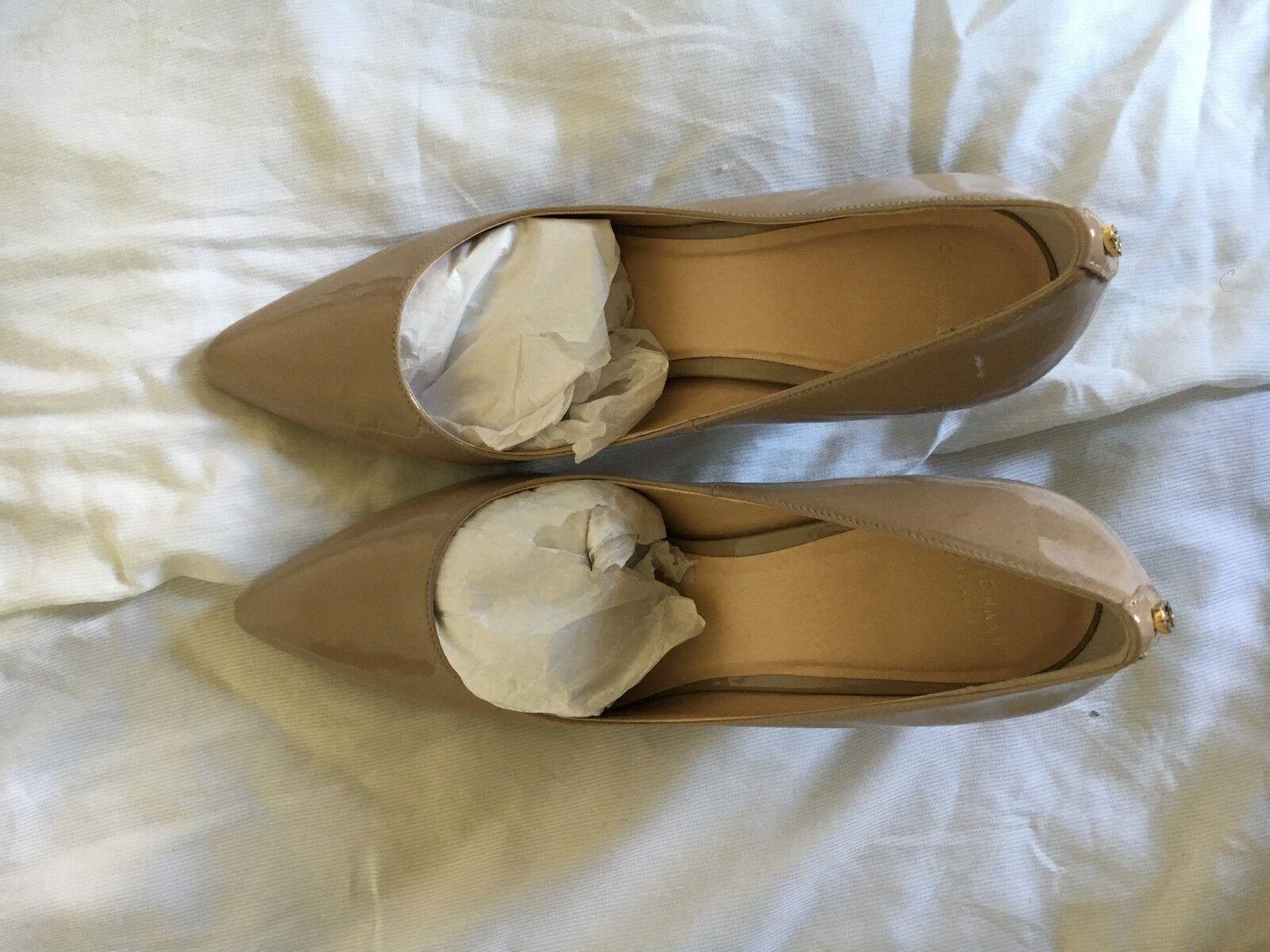 Cole Haan Grand so Mujer Beige Patent Zapatos De Salón Salón Salón Talla 10B D41948  tienda en linea