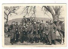 7/714  FOTO SOLDATEN MÖRCHINGEN MÄRZ 1942  TECHNIK PFERD STAHLHELM