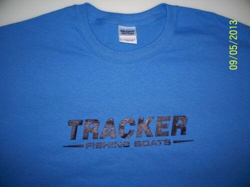 Tracker Boats Screen Printed Iris T-Shirt 100/% Heavy Cotton Pre Shrunk