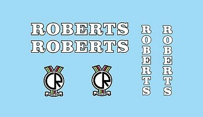 Bicycle Decals Transfers Stickers Roberts Set 1