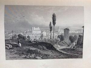 AREZZO Tuscany Treaty dall'opera di Camillo Mapei incision orig. XIX century