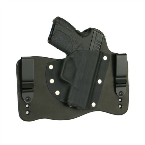 FoxX Leather /& Kydex IWB Hybrid Holster Springfield XD-S 3.3 9//45 Black Right