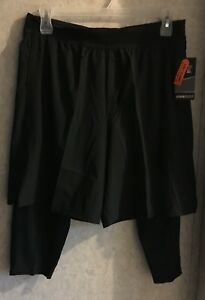 d15ef8f8bf Details about Russell Men's Shorts Stretch 2 in 1 with Compression Tights  New Size XL 40 42