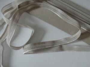1-20-m-Gummiband-Gummilitze-Waeschegummi-Masken-teilbar-taupe-beige-3mx10mm