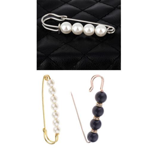 3 pièces pince de broche de sécurité avec perles d/'imitation de luxe