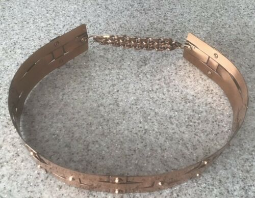 RENOIR Copper Belt 50s 60s Vintage Stamped Woven M