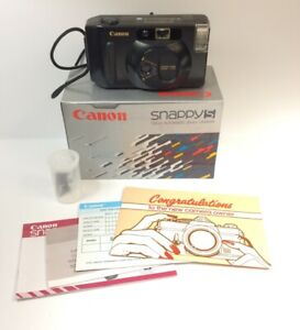 CANON-Camera-Snappy-1985-35mm-CZ6-0480-Box-And-All-Manuals-Open-Box