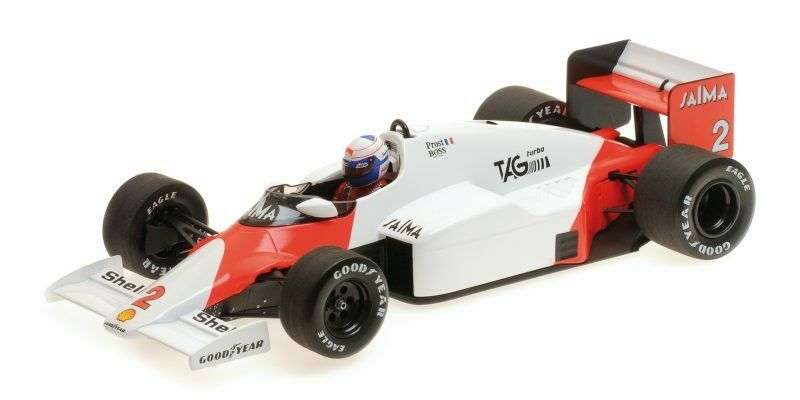 McLaren Tag MP4 2b Alain Prost World Champion 1985 1 18 Model MINICHAMPS