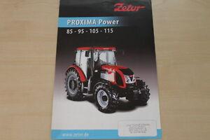 157930) Zetor Proxima Power 85 95 105 115 Prospectus 200?-afficher Le Titre D'origine Belle Qualité