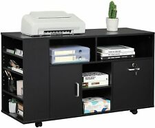 Office Wood File Cabinet Lock Drawer Open Shelf Storage Home Office Organizer