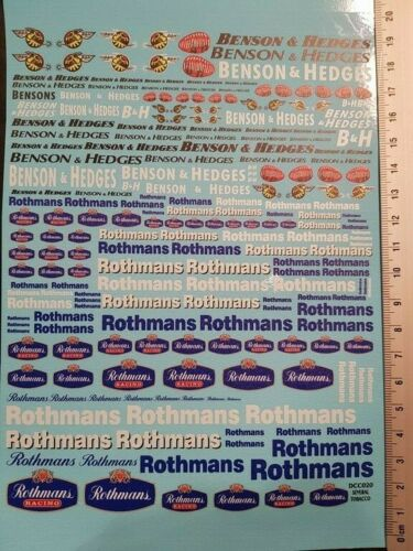 "ROTHMANS /"" TOUTES ECHELLES 19cm X 15cm COLORADO DCD020 UV DECALS /"" BENSON"