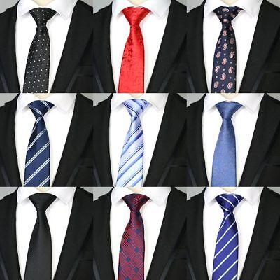 new 7CM man tie Polyester Silk Black Check  Wedding Party Ties Men Necktie Woven