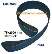 Schleifband / Schleifbänder INOX 75x2000 mm Gewebeschleifband 10 Stück Edelstahl