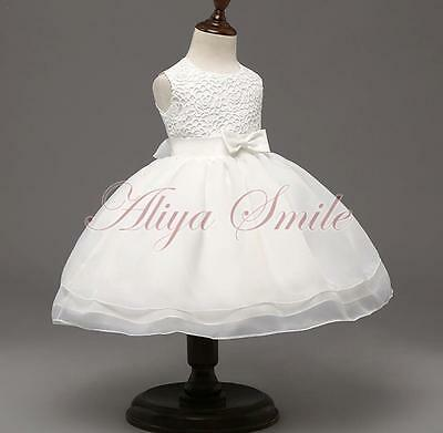 Baptism Christening Flower Girl Princess Wedding Party Tutu Dress Gown For Baby