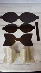 plastic viynl bow making template make your own hair bow diy ebay