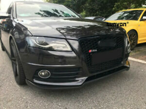 A4-B8-Front-Grill-Mesh-Grille-for-Audi-A4-B8-amp-S4-2009-12-To-RS4-Full-Black