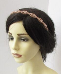 Crystal Row Brow Band Forehead Headband Bandeau  Hair Band Hair Accessories UK