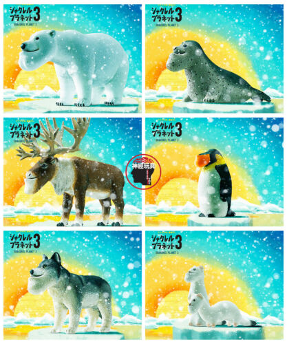 Takara Tomy Capsule Toy Panda/'s Ana Shakurel Planet Part3 Polar Animal 6 Set