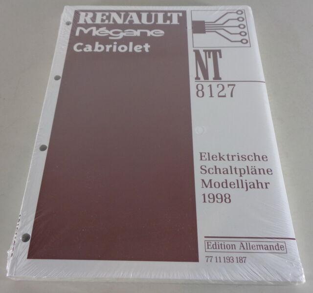 Workshop Manual Electric Schematics Renault Megane Cabriolet Stand 1998