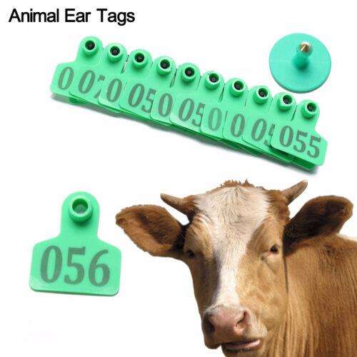 100 tlg Schafe Ziege Schwein Kuh Rindfleisch Vieh Ohrmarken Nummer Tier Zubehör