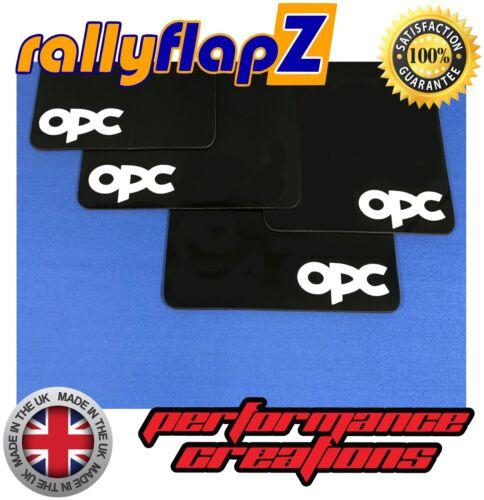 RallyflapZ OPEL ASTRA J GTC OPC Parafanghi 2012 Nero 4mm PVC-OPC Logo Bianco