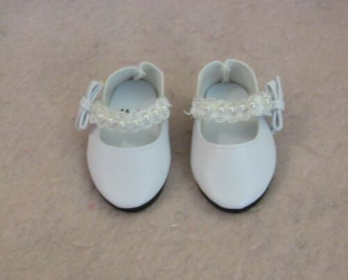 White Pearl Shoes fit American Girl Doll 18 Inch Clothes Seller lsful
